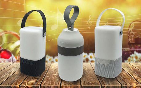 LED svítilna s Bluetooth reproduktorem, doprava zdarma
