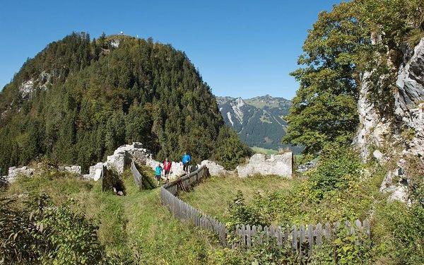 Lechtalské údolí s kartou, Tyrolsko, autobusem, snídaně v ceně2