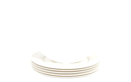 Mäser Sada dezertních talířů Clasico 20,5 cm, 6 ks, bílá