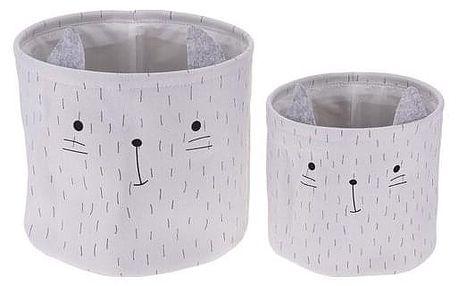 Sada dekoračních košíků Hatu Kočka, 2 ks