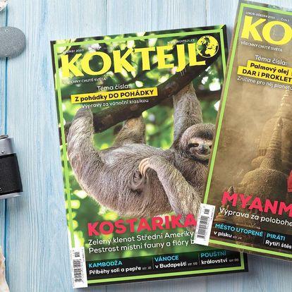 Roční předplatné cestovatelského časopisu Koktejl
