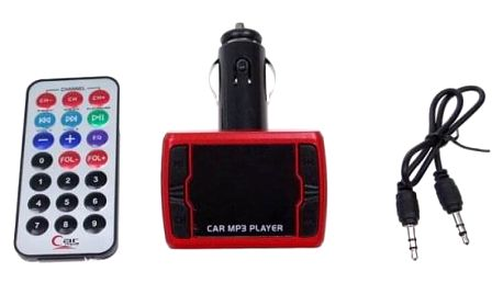 Bluetooth handsfree do auta s ovladačem červené