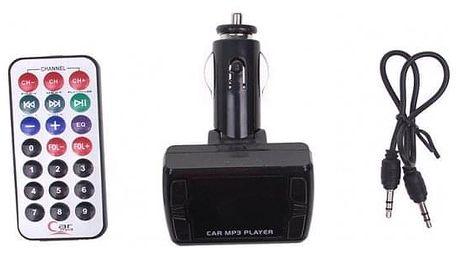 Bluetooth handsfree do auta s ovladačem černé