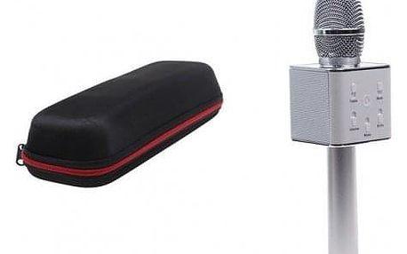 Karaoke mikrofon Q7 s pouzdrem stříbrný