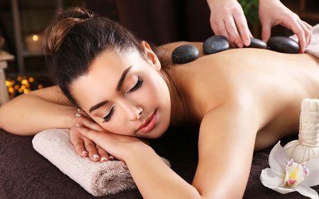 Výběr ze 7 druhů masáží: relaxační i lávové kameny