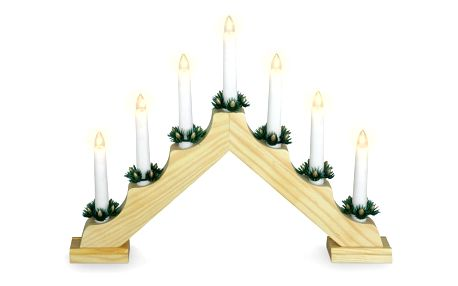 Vánoční svícen Candle Bridge hnědá, 7 LED