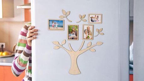 Magnetický strom života se čtyřmi fotografiemi