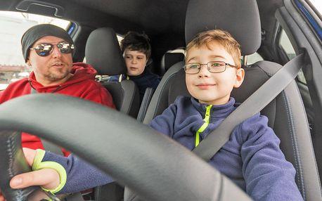 Autoškola pro děti od 5 do 18 let: 20–40 min. jízdy
