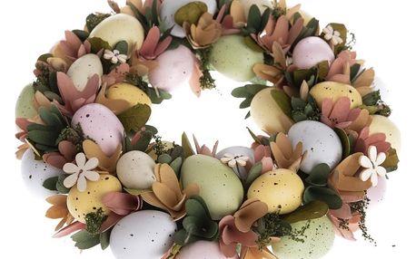 Velikonoční věnec s vajíčky Deliciae, 31 cm