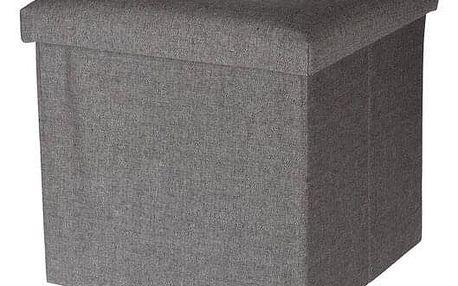 Úložný sedací box Faro světle šedá, 38 x 38 cm