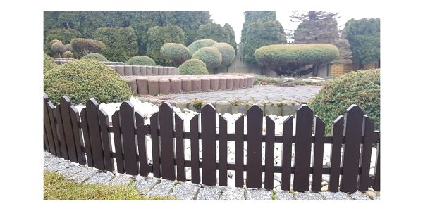 Zahradní plůtek Home hnědá, 2,3 m