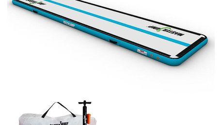 Airtrack MASTERJUMP S-Pro nafukovací žíněnka 400 x 150 x 10 cm - šedá - modrozelená