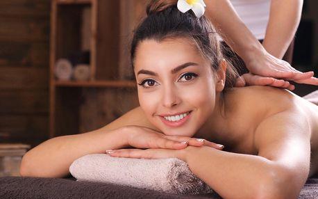 Balíček plný rozmazlování: masáž zad, obličeje a zábal