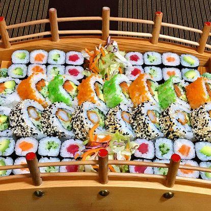 Sushi menu až se 72 kousky z restaurace Kyoto sushi Vysočany
