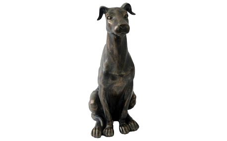 Dekorace sedící pes, 20 x 34 cm