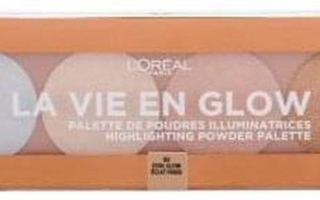 L´Oréal Paris Wake Up & Glow La Vie En Glow 5 g rozjasňující paletka pro ženy 002 Cool Glow