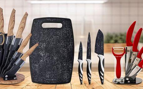 3–8dílná sada nožů i se stojanem, brusič k ostření
