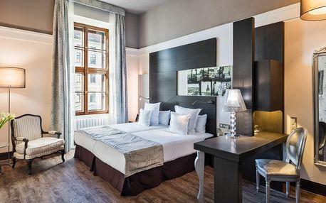 Pobyt v luxusním 5* hotelu v Brně s jídlem a saunou