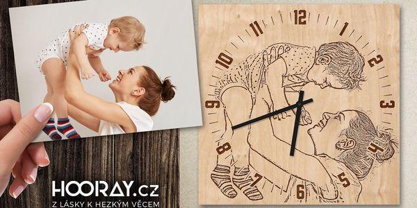 Dřevěné hodiny z vaší fotografie3