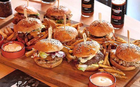 Burgerové, tatarákové nebo krůtí prkno pro partu