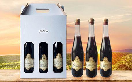 Vína v dárkovém balení: rybíz s aronií či borůvkou
