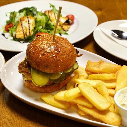 Čtyřchodové menu s burgerem nebo kuřecím Supreme
