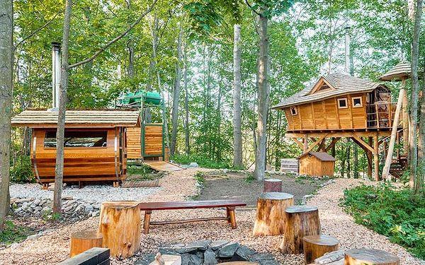 Rodinný pobyt v treehouse   Dolní Morava   Celoročně do min.teploty -5 stupňů C.   2 dny/1 noc.2