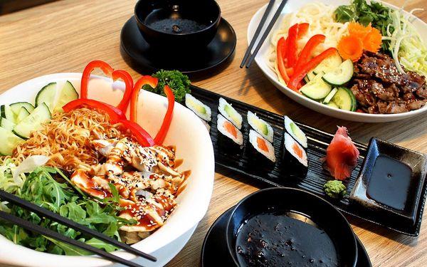 Asijské menu pro dva: sushi a nudle