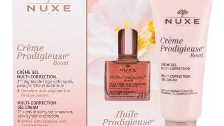 NUXE Crème Prodigieuse Boost dárková kazeta proti vráskám pro ženy denní pleťový krém Creme Prodigieuse Boost Multi-Correction Gel Cream 40 ml + suchý olej Huile Prodigieuse Florale 10 ml