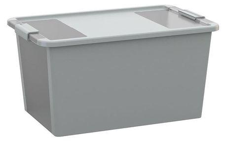 Úložný Bi box L 40 litrů kombinace průhledná šedá