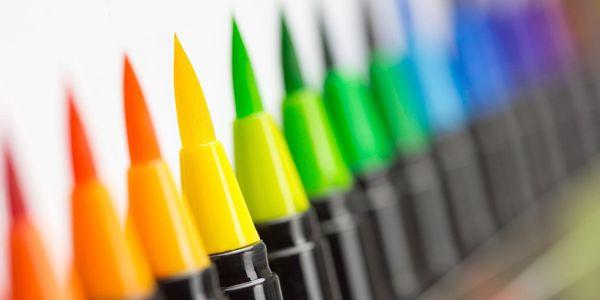 Sada barevných štětcových per LizART (21 ks)2