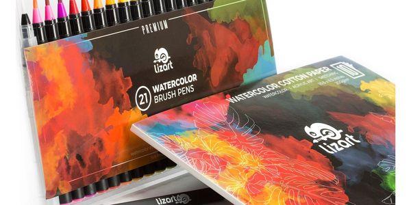 Sada barevných štětcových per LizART (21 ks)3