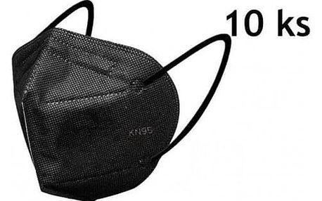 Respirátor KN95 10ks černý