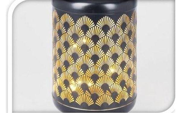 Kovová LED lucerna s časovačem Cora, 15,5 x 28 cm, 18 LED, teplá bílá2