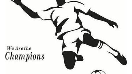 Samolepicí dekorace Fotbalista černý