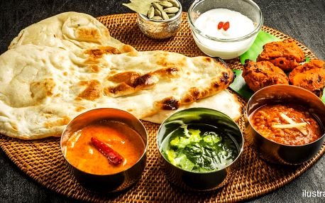 500 g jídla z bufetu v indickém bistru Al Karim