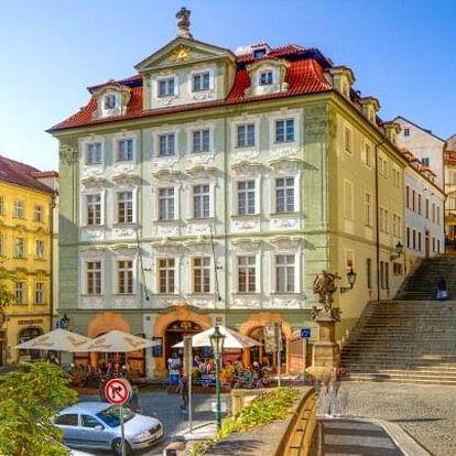 Praha přímo v centru jen 500 m od Pražského hradu v Hotelu Golden Star **** se snídaněmi formou bufetu