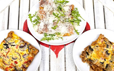 Italská omeleta z bio vajec a tiramisu pro 1 i 2 os.