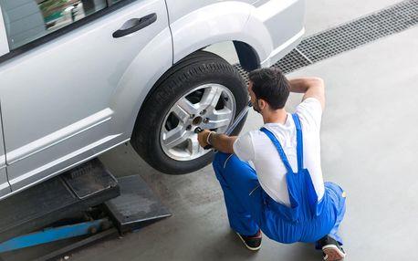 Přezutí pneumatik vč. závaží i prohlídka vozidla