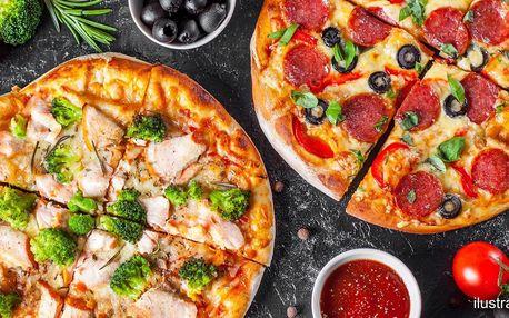 1 či 2 pizzy s rozvozem po Ústí: 26 druhů, ø 45 cm