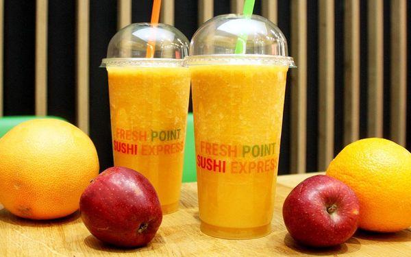 Vitamínová bomba: 2 malé či velké ovocné fresh džusy