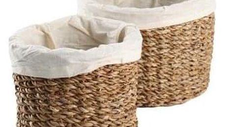 Košík s látkovou podšívkou 2 ks, mořská tráva