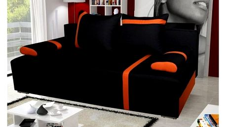 Pohovka STRAKOŠ Capri 04 černá / oranžová