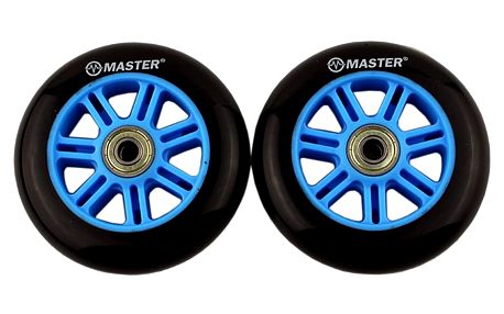 Náhradní kolečka na koloběžky MASTER Stunt 100 mm - modré
