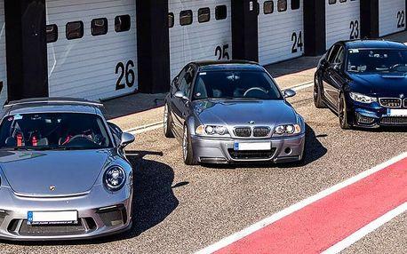 Jízda na závodním okruhu v BMW, Toyotě nebo Porsche