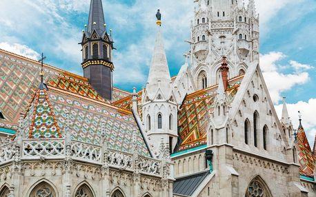 Maďarsko - Budapešť vlakem na 4 dny, strava dle programu