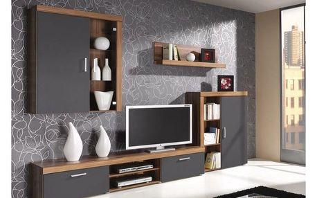 Obývací stěna STRAKOŠ S-01 grafit