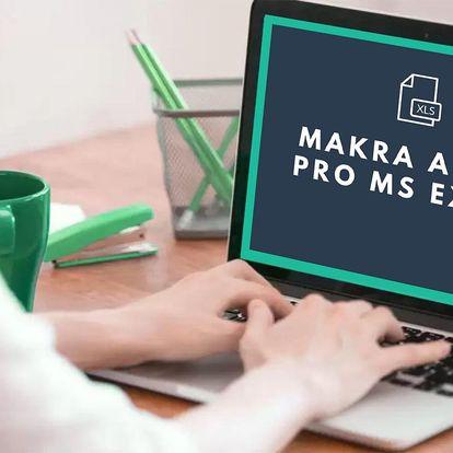 Online kurz Excelu: Makra a VBA či set 3 kurzů