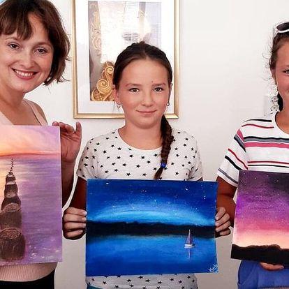 Výtvarné kurzy suchým pastelem i s dárkem