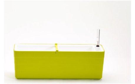 Plastia Samozavlažovací truhlík Berberis 60, zelená + bílá